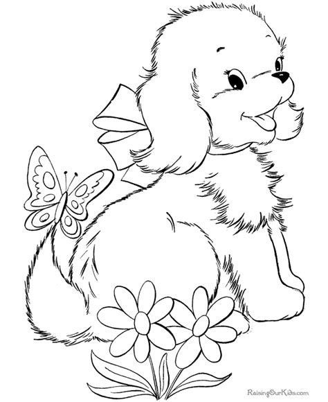 printable coloring pages dogs cute puppy image to print and color 033 dog printing