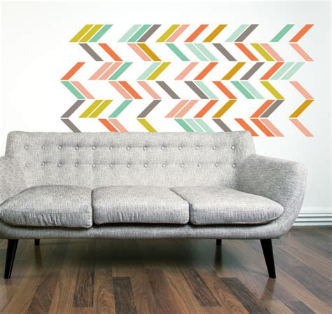 herringbone pattern wall decals multi color herringbone wall decal set eclectic wall