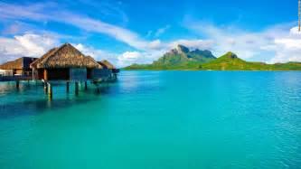 Bora bora french polynesia white sand beaches and blue lagoons