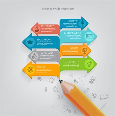 education infographic template vector free download