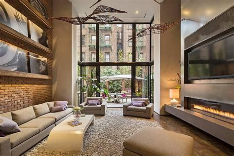 home interior design new york modern townhouse with loft design new york city