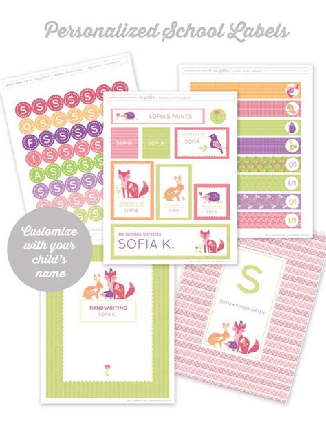 customizable design templates for school 17 best images about kids school labels printables and