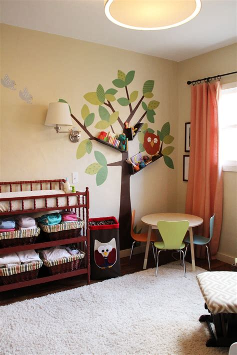 Painted Wall Murals For Kids tree bookshelves that creatively display collections in style