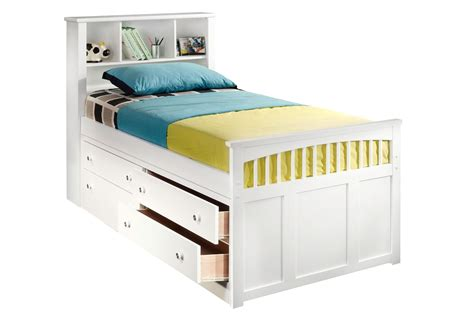 captains bed with storage furniture set amazing