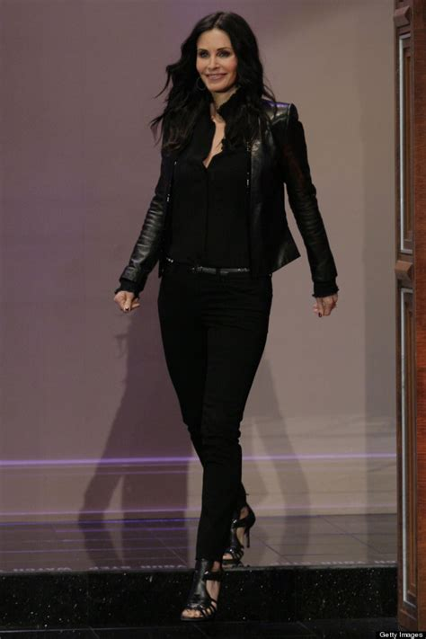 Look Korean Jaket Comby Leather 51 courteney cox goes hell for leather on leno huffpost uk