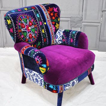 suzani fabric chair patchwork armchair with suzani fabrics from name design studio
