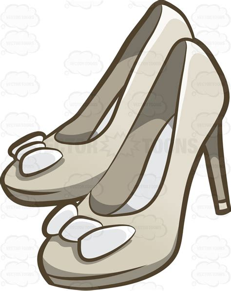 Shoe Home Decor by A Pair Of Bridal Shoes Cartoon Clipart Vector Toons