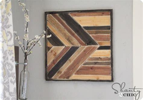 Diy Wood Wall Decor by Geometric Pieced Wood Wall