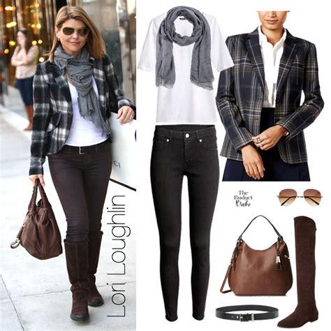 lori loughlin boots primped and polished lori loughlin s plaid blazer and