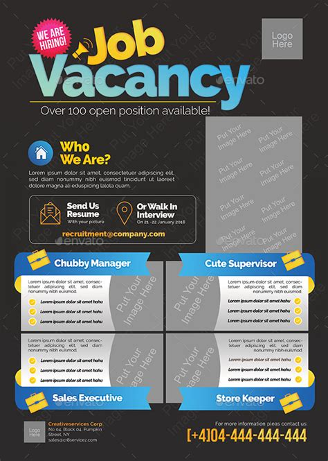 poster design job description job vacancy flyer by shamcanggih graphicriver