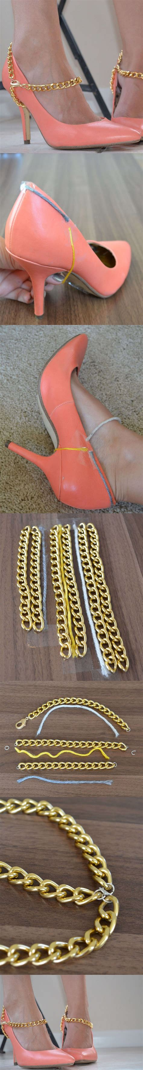 diy heel straps 50 shoe diys that will your sneakers and sandals