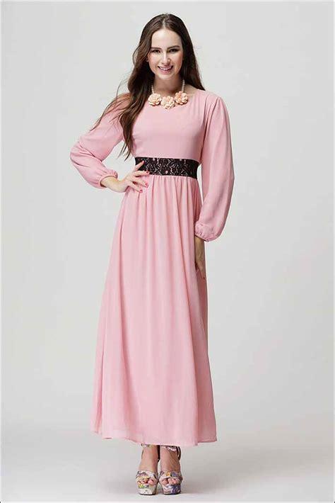 Axara Pink Opdress Lengan Panjang Murah Cantik gamis pink cantik import terbaru jual model terbaru