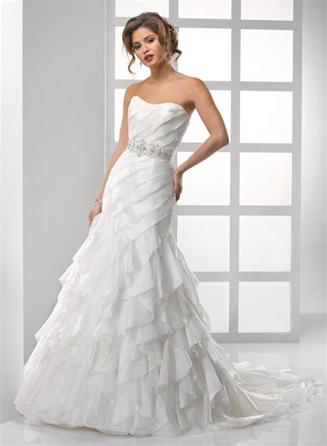 Brautkleider Organza by Photos Of Organza Wedding Dresses With Ruffles