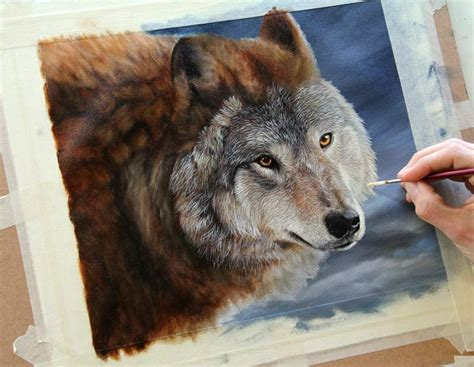 watercolor wolf tutorial paintings of wolves on canvas wildlife art gallery