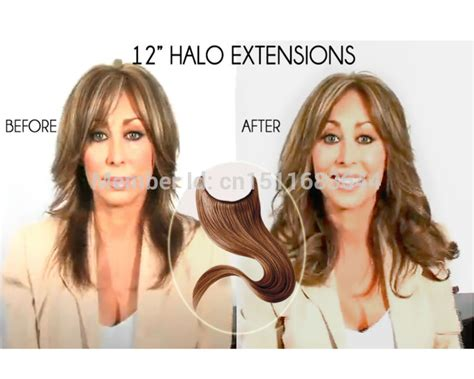 older women and hair extensions halo 2 piece grade 6a brazilian remy hair straight hair flip in