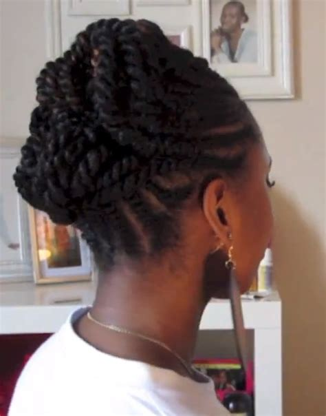 Twist And Curls Hairstyles by Hair Flat Twist Updo Protective Hairstyle