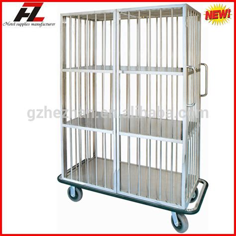 laundry trolley design 3 tier fixed shelf stainless steel linen trolley for linen