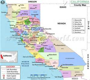 counties in california county map cali 14