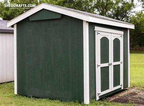 gable tool storage shed plans blueprints  design