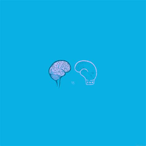 wallpaper blue minimal ai24 brain vs boxing illust blue minimal art