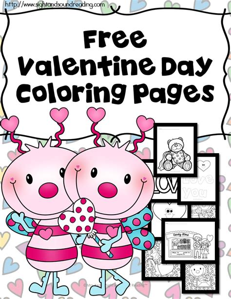 free coloring pages of kindergarten valentine s day
