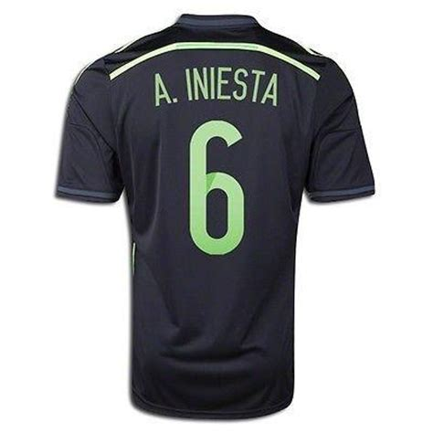Adidas Spain Home Jersey Original Word Cup 2014 Size M adidas a iniesta spain away jersey fifa world cup brazil