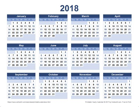 printable yearly calendar 2013 2018 calendar template 2018 calendar