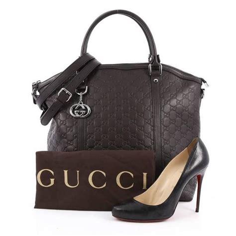 Gucci Small Dome Tas Gucci Original gucci gg charm convertible dome satchel guccissima leather large at 1stdibs
