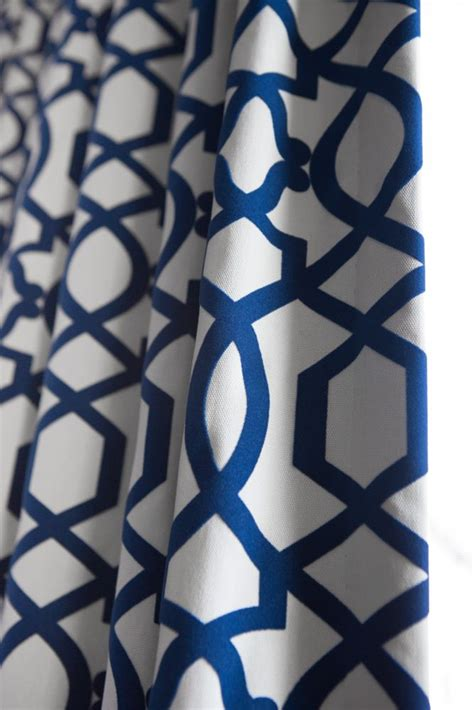 Blue Pattern Valance | beautiful custom blue patterned curtains project by