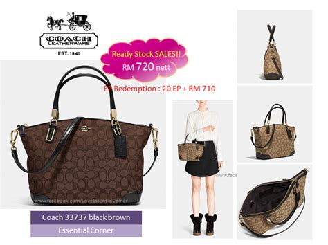 Ready Coach Kelsey Small Black category avail ready stock in my essential corner