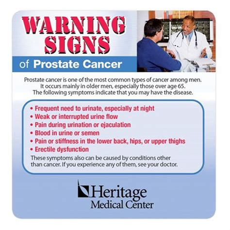 warning signs  prostate cancer magnet personalization  positive promotions