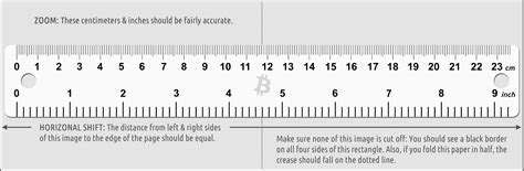 How To Make A Paper Ruler - bitcoin paper wallet generator