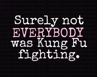 Everybody Was Kung Fu Fighting by Surely Not Everyone Was Kung Fu Fighting Jokes