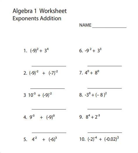 Pre Algebra Free Worksheets by College Algebra Worksheet Templates Free Premium Templates Forms Sles For