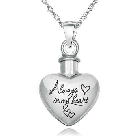 ashes necklace always in my ashes necklace personalised 925 sterling silver