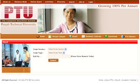 Ptu Distance Mba by Ptu Mba Results Ptu Distance Learning Mba Results 2009