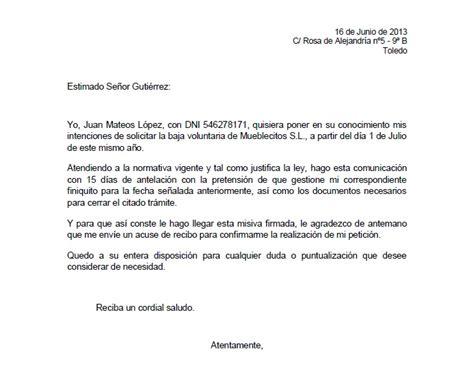 ejemplo carta de despido laboral ejemplo de carta de despido voluntario ejemplos de carta