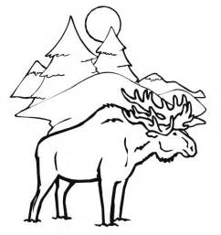 coloring pages alaska animals moose coloring page az coloring pages