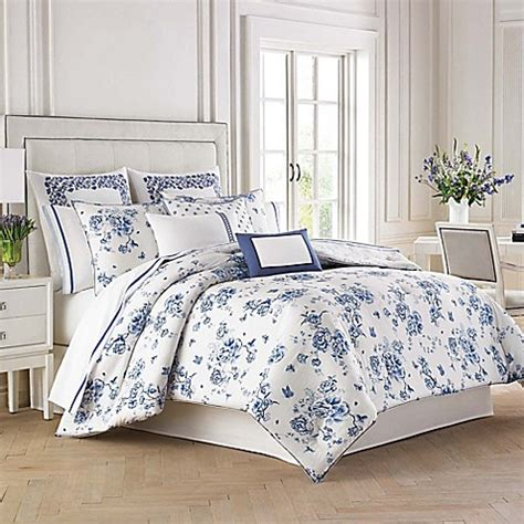 wedgwood 174 china blue floral comforter set bed bath beyond