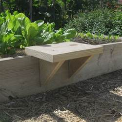 raised garden bed with bench seating diy raised bed seat vegetable gardener