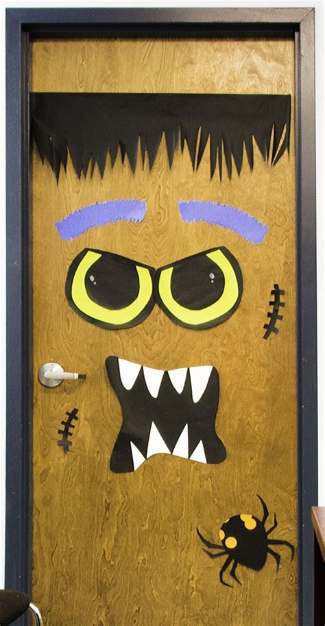 printable halloween door decorations diy halloween door decorations