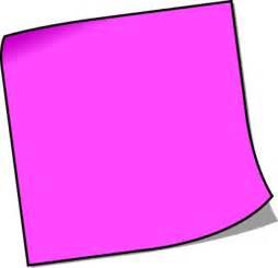 blank sticky note vector clip