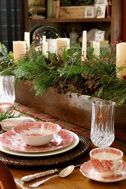 christmas table settings ideas 24 inspiring rustic christmas table settings digsdigs