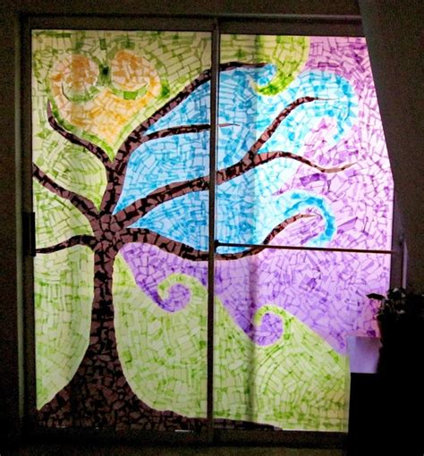How To Make Paper Windows - 7 best images about tissue paper on tissue