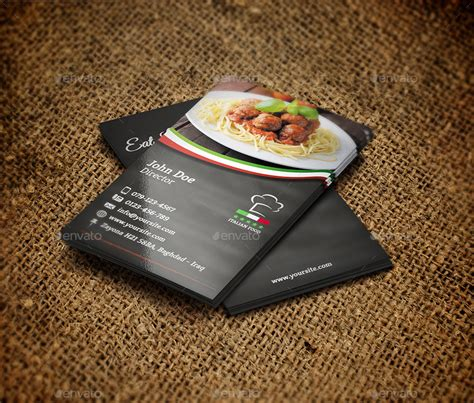 restaurant business card template italian restaurant business card template by owpictures