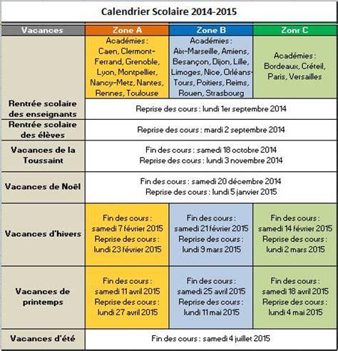 Calendrier Budget Gratuit Calendrier Vacances Scolaires 2014 2015 Mod 232 Les Excel