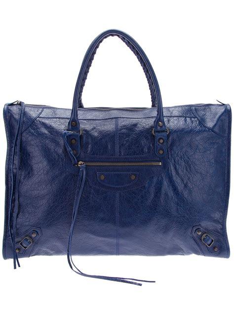 Balenciaga The Weekender by Balenciaga Weekender Bag In Blue Lyst