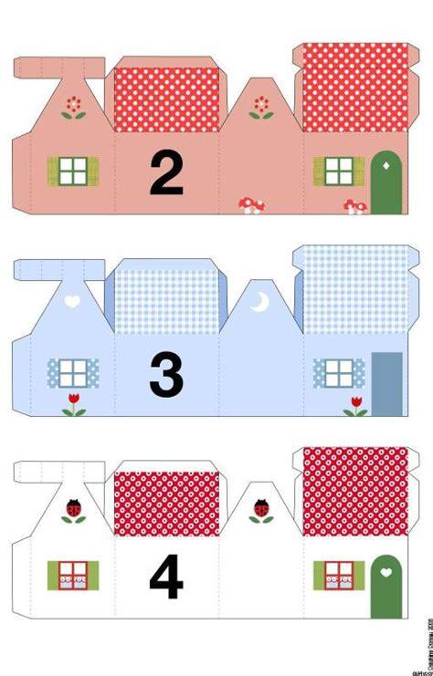printable advent calendar house petites maisons pour calendrier de l avent 224 imprimer