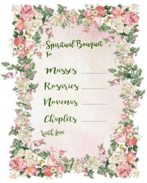 christian study tools  art spiritual bouquet gift card  printables