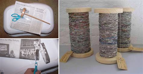 How To Make Paper Yarn - how to make handspun recycled newspaper yarn diy